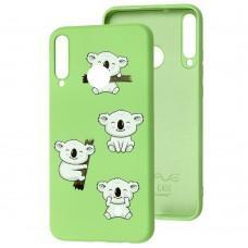 Чехол для Huawei P40 Lite E Wave Fancy koala / mint gum