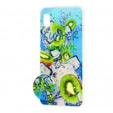"Чехол для Samsung Galaxy A10 (A105) силикон + popsocket ""киви"""