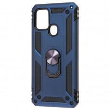 Чехол для Samsung Galaxy A21s (A217) Serge Ring ударопрочный синий