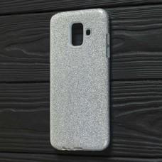 Чехол для Samsung Galaxy A6 2018 (A600) Shining Glitter с блестками серебристый