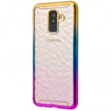 Чехол для Samsung Galaxy A6 2018 (A600) Prism Gradient золотисто розовый