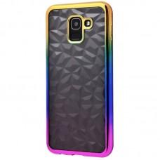 Чехол для Samsung Galaxy J6 2018 (J600) Prism Gradient золотисто розовый