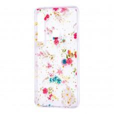 "Чехол для Samsung Galaxy A9 2018 (A920) Flowers Confetti ""полевые цветы"""