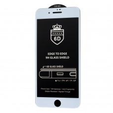 Защитное стекло 6D для iPhone 7 Plus / 8 Plus OG Crown белое (OEM)