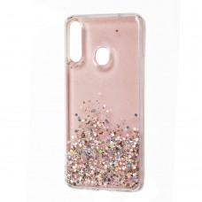 Чехол для Samsung Galaxy A20s (A207) Wave конфети розовый