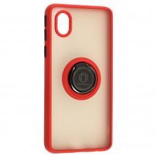 Чехол для Samsung Galaxy A01 Core (A013) LikGus Edging Ring красный