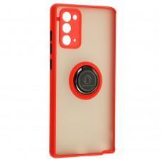 Чехол для Samsung Galaxy Note 20 (N980) LikGus Edging Ring красный