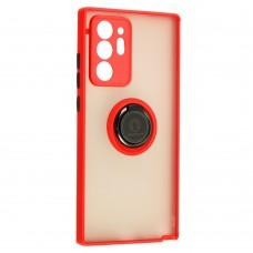 Чехол для Samsung Galaxy Note 20 Ultra (N986) LikGus Edging Ring красный