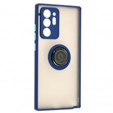 Чехол для Samsung Galaxy Note 20 Ultra (N986) LikGus Edging Ring синий