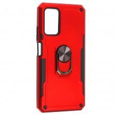 Чехол для Xiaomi Poco M3 Serge Ring ударопрочный красный