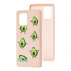 Чехол для Samsung Galaxy S10 Lite (G770) Wave Fancy sports avocado / pink sand