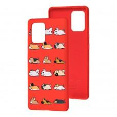 Чехол для Samsung Galaxy S10 Lite (G770) Wave Fancy sleeping dogs / red