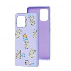 Чехол для Samsung Galaxy S10 Lite (G770) Wave Fancy cute bears / light purple
