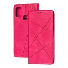Чехол книжка Business Leather для Samsung Galaxy M31 (M315) малиновый