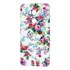 Чехол для Xiaomi Redmi Note 4x Star case цветы на белом