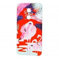 Чехол для Xiaomi Redmi Note 4x Star case розовый фламинго
