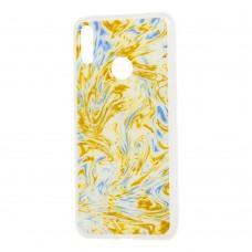 "Чехол для Huawei Y7 2019 Art confetti ""перелив"" золотистый"