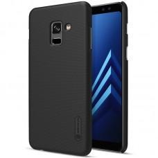Чехол для Samsung Galaxy A8+ 2018 (A730) Nillkin с защитной пленкой черный