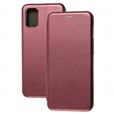 Чехол книжка Premium для Samsung Galaxy M31s (M317) бордовый