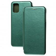 Чехол книжка Premium для Samsung Galaxy M31s (M317) зеленый