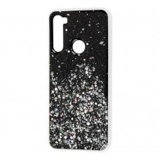 Чехол для Xiaomi Redmi Note 8T Confetti Metal Dust черный