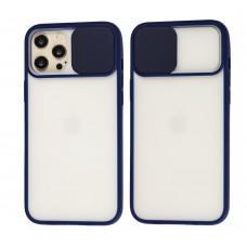 Чехол для iPhone 12 Pro Max LikGus Camshield camera protect синий
