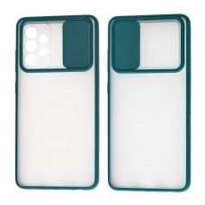 Чехол для Samsung Galaxy A52 LikGus Camshield camera protect зеленый