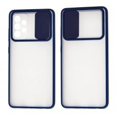 Чехол для Samsung Galaxy A52 LikGus Camshield camera protect синий