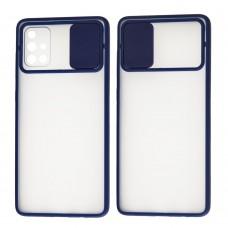 Чехол для Samsung Galaxy A71 (A715) LikGus Camshield camera protect синий