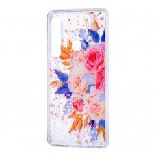 """Чехол для Samsung Galaxy A9 2018 (A920) Flowers Confetti """"кустовая роза"""""""