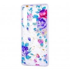 """Чехол для Samsung Galaxy A9 2018 (A920) Flowers Confetti """"цветы"""""""