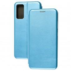 Чехол книжка Premium для Samsung Galaxy S20 FE (G780) голубой