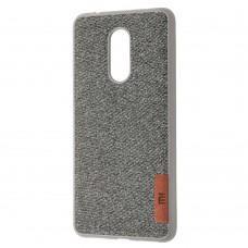 Чехол для Xiaomi Redmi 5 Label Case Textile серый
