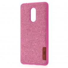 Чехол для Xiaomi Redmi 5 Label Case Textile розовый