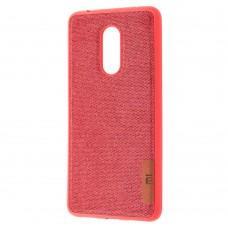 Чехол для Xiaomi Redmi 5 Label Case Textile красный