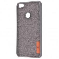 Чехол для Xiaomi Redmi Note 5A Prime Label Case Textile серый
