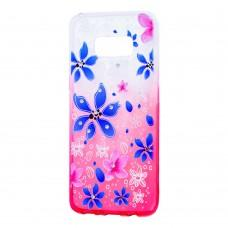 "Чехол для Samsung Galaxy S8 (G950) Glamour ambre розовый ""цветы"""