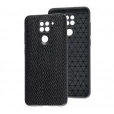 Чехол для Xiaomi Redmi Note 9 Leather case волна