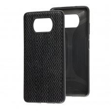 Чехол для Xiaomi Poco X3 Leather case волна