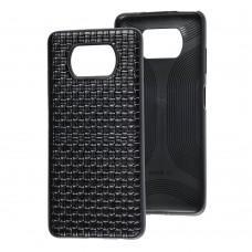 Чехол для Xiaomi Poco X3 Leather case плетенка