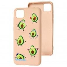 Чехол для Huawei Y5p Wave Fancy sports avocado / pink sand