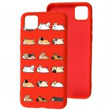 Чехол для Huawei Y5p Wave Fancy sleeping dogs / red