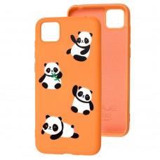 Чехол для Huawei Y5p Wave Fancy panda / peach