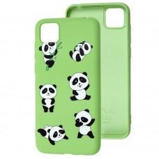 Чехол для Huawei Y5p Wave Fancy lovely panda / mint gum