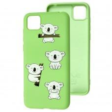 Чехол для Huawei Y5p Wave Fancy koala / mint gum