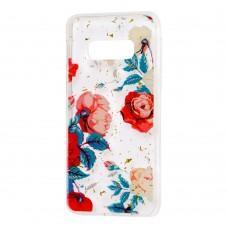 "Чехол для Samsung Galaxy S10e (G970) Flowers Confetti ""роза"""