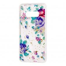 "Чехол для Samsung Galaxy S10e (G970) Flowers Confetti ""цветы"""