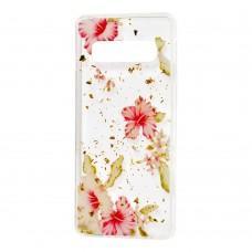 "Чехол для Samsung Galaxy S10+ (G975) Flowers Confetti ""китайская роза"""