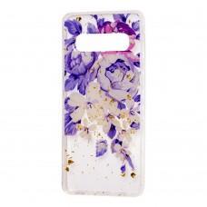 """Чехол для Samsung Galaxy S10+ (G975) Flowers Confetti """"пионы"""""""