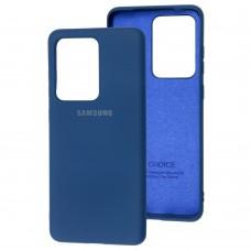 Чехол для Samsung Galaxy S20 Ultra (G988) Silicone Full синий